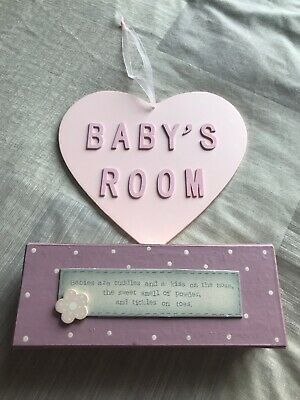 Baby Girl Keepsake Boxes & 'Baby's Room' Plaque