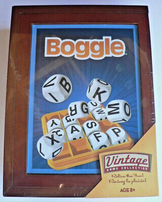New BOGGLE 2019 Vintage Library Bookshelf Game Collection Wooden Box SEALED