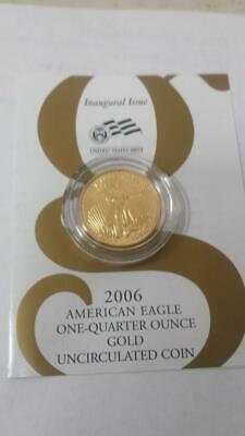 2006-W American Gold Eagle 1/4 oz $10 Uncirculated Coin Burnished  origina owner