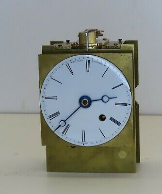 English fusee carriage clock movement Arnold and Frodsham c1850