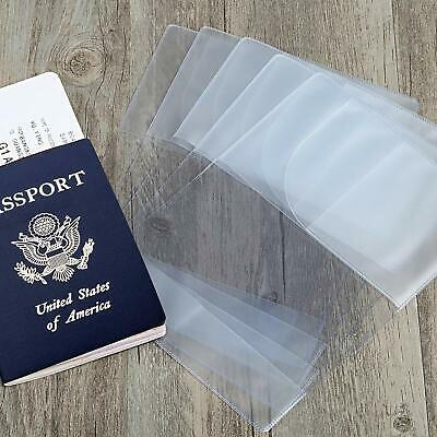 Clear Transparent/Opaque Passport Cover Holder Travel Card Protector