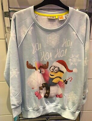 Next Despicable Me / Minions Christmas Sweatshirt. Girls Aged 15 Years. VGC
