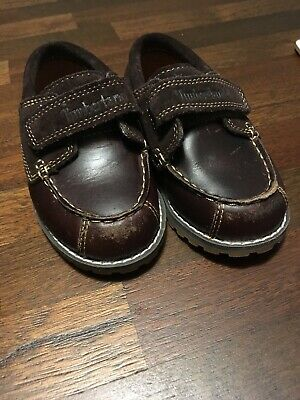 NEW START-RITE POOLE BOYS BROWN LEATHER VELCRO SHOES 3 5 4 3.5 4.5