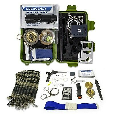 Gearrific Survival Kit with Watertight Case & Emergency Tools (27 pieces)
