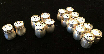 Sterling Silver Personal Salt & Pepper Shakers, 8 Pairs, 72.9g