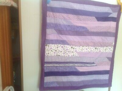 Jelly Roll Cot Quilt. Approx  80 X 72 Cm