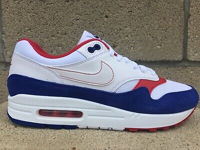 Nike Air Max 1 USA Mens Multisize Patriotic Shoes Red White Blue CJ9927-100