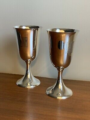 """Set Of 2 Towle 904 Sterling Silver Goblets Wine or Water Stems 6 1/2"""""""