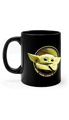 Cute Baby Yoda Mug Mandalorian Star Wars Fan Gift