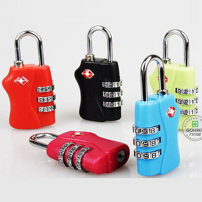 New 1PC TSA Resettable 3 Digit Combination Lock For Travel Bag Luggage Suitcase