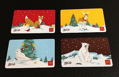 2019 🇨🇦 Canada Mcdonalds Christmas Gift Card ----- Set Of 4 Pcs. ---- New