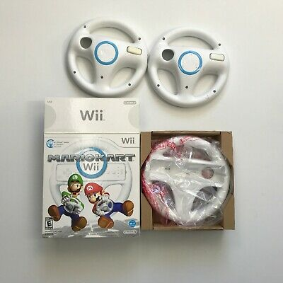 3 Official Genuine Nintendo Wii Steering Wheel Remote Controller For Mario Kart