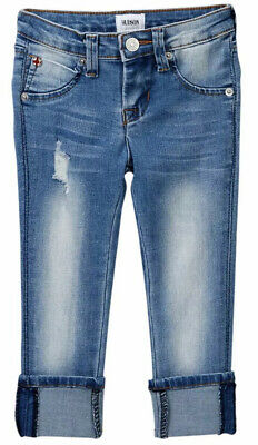 Hudson Skinny Roll Cuff Crop Girls Jeans Size 5R MSRP $45
