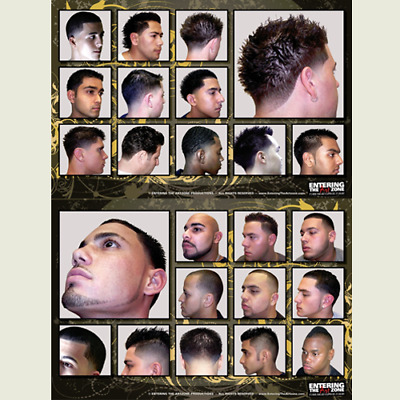 Contemporary 2 Set Haircut Chart Clipper Cut Barbershop Posters