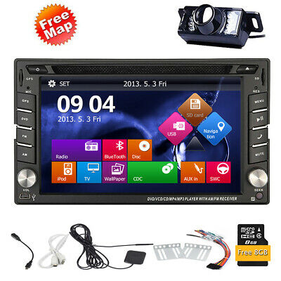Double 2 Din  Bluetooth Touchscreen DVD Player Stereo GPS Radio GPS Navigator