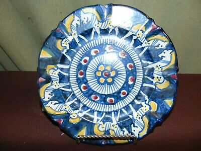 Sorrento Pottery Plate With Horses