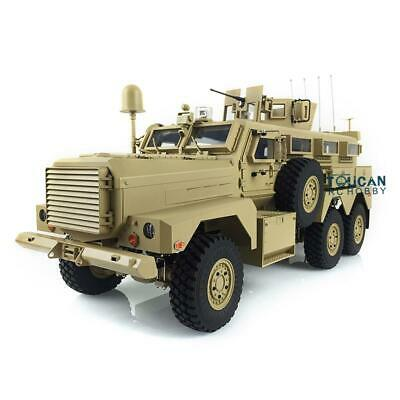 HG 1/12 6*6 RC Cougar 6x6 MRAP Vehicle 16CH Radio Explosion Proof Car Yellow