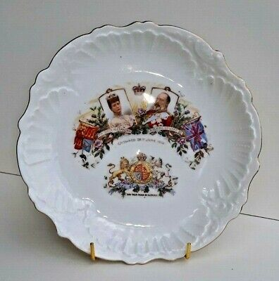 Rare Antique King Edward VII Coronation Commemoration (1902) Dish  Very Unusual