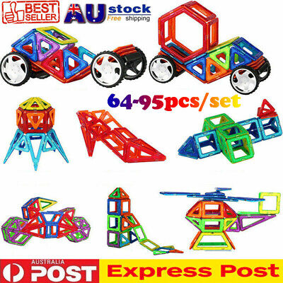 95pcs Magnetic Building Blocks Toy Set 3D Tiles DIY Toys Gift for Kids Children
