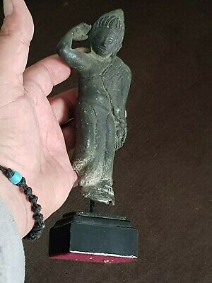 Fantastic Extremely Rare Ancient Gandhara Bronze Statue 100-300 Ad.452 Gr.250Mm