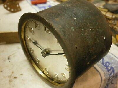 Drum Carriage Clock Movement 30 Hour Sound for part spare barrel mantle salvage