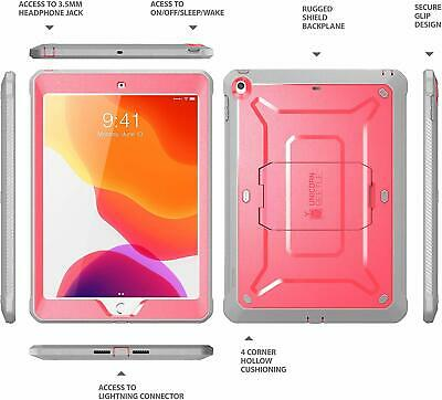 SUPCASE for iPad 10.2 2019 7th Gen Case, [UB Pro] Shockproof Cover with Screen