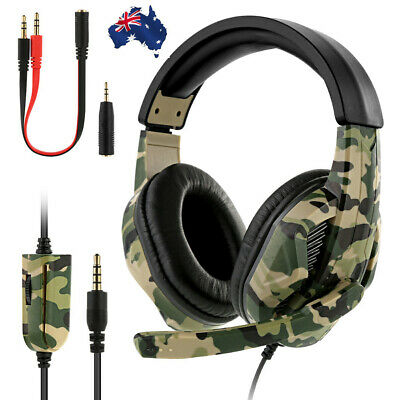 3.5mm Gaming Headset w/ MIC Headphones for PC Switch Laptop PS4 PS3 Xbox One AU