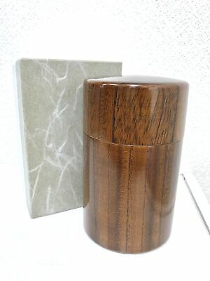 Chazutsu tea canister Wooden Tea caddy Japanese Wooden tea Canister from Japan