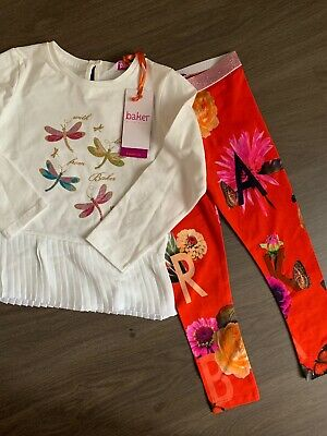 New Ted Baker Girls 2pcs Outfit Set Top And Leggings Size 4-5 Years