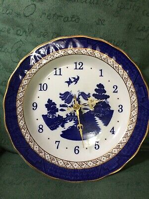Vintage Booths Real Old Willow Blue and White Wall Clock