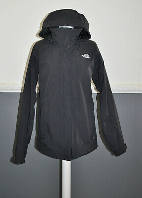 The North Face Hyvent Women's Wind Rain Mesh Lined Jacket Hood Black Outdoor M