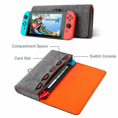 For Nintendo Switch-Lite Portable Felt Travel Carry Bag Pouch Storage Case Cover
