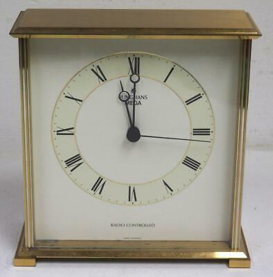 Solid Gilt Brass Art Deco Mantel Clock Junghans Mega Radio Controlled Clock