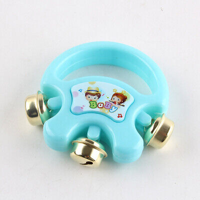 Color Random Hot Colorful Infant Lovely Baby Toys Ring Rattles Handbell Plastic