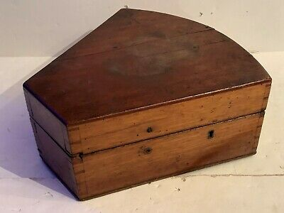 1800s sextant wood box only! coffin case as found! Dovetailed boat navigation