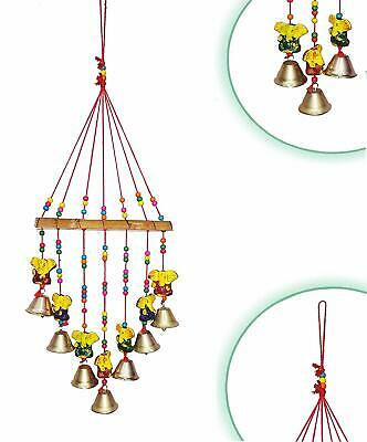 """Sun Wind Chime with Brass Bells and Bead Accents 22/"""" #OMI-CLB79"""