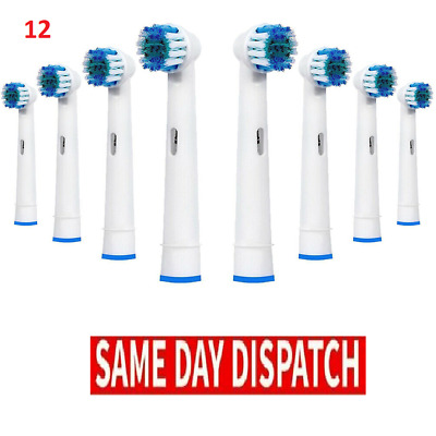 12 x Electric Tooth brush Heads Compatable for Braun Oral B Vitality Precision