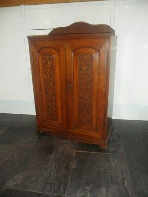 Carved Victorian Mahogany Wall Cabinet