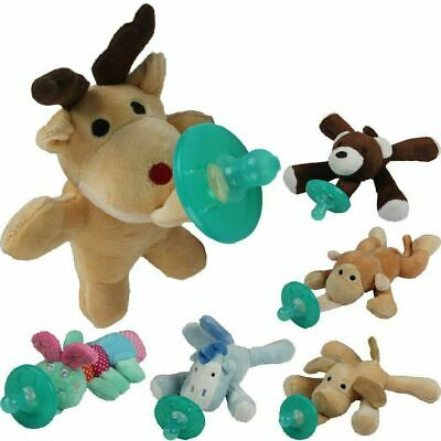 Cute Baby Pacifier Clip Chain Plush Cartoon Animal Toy Soother Nipple Holder WW