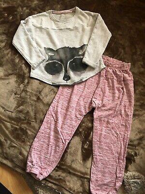 Next Girls Racoon Pyjamas Age 7