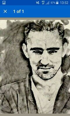 Lee Pace King Thranduil The Hobbit Original  Card ACEO print from painting