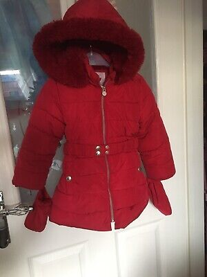 Girls Jasper Conran Winter Coat Size 3-4 Years