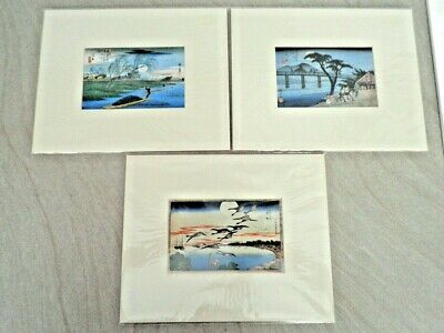 New 3 Hiroshige Mounted Woodblock Prints - Royal Academy Of Arts