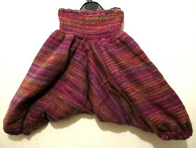 Kids Winter Trousers Wooly  Wool Childrens Harem Pants Girls/Boys Hippie Clothes