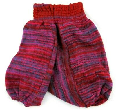 Kids Winter Harem Trousers Wooly  Wool Childrens Pants Girls/Boys Hippie Clothes