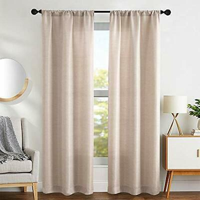Vauxhall Floral Leaf Print Linen Textured Pole Top Window Curtains for Living Room /& Bedroom 40 X 84 Inch - Cocoa VAQCC=12 //2926+ Set of 2 Panels Duck River Textiles Assorted Colors
