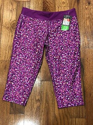 Nike The Legend Tight Fit  Dri Fit Crop Leggings Girls Size Large Purple