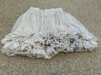 Girls Little White Company Tule Skirt - Silver/Grey - 4-5 Years