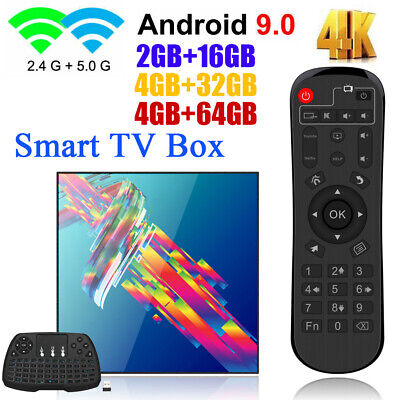 A95X Android9.0 Smart TV Box 16/32/64GB WiFi 4K 4-Core H6 Media 3D+Tastiera X1W6