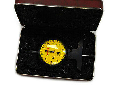 Starrett 664MJ Metric Dial Depth Gage 0.75mm Range .01mm Grad in Case